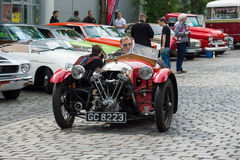 V-Twin three-wheelers, Morgan Super Sports Stock Image