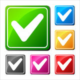 V - Uzasadnienie ustawiający sześć różnych ikon Fotografia Stock