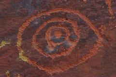 V-V Petroglyphe Lizenzfreies Stockbild