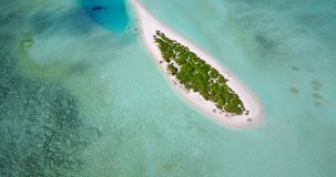 V09577 vacation in maldives tropical islands with view from aerial flying drone on white sand beaches and blue sky and Stock Photos