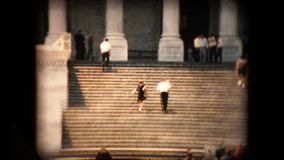 V. Iew of the United States Capitol building steps in the mid 1960's stock video