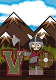 V is for Viking Royalty Free Stock Images