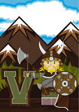 V is for Viking Stock Image
