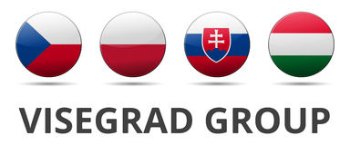 V4 Visegrad group country flag Royalty Free Stock Photography