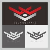 V and W  Logo Royalty Free Stock Photography