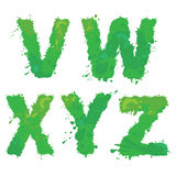 V, W, X, Y, Z, Handdrawn english alphabet - letters are made of Stock Photos