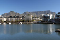 V & A Waterfront. The Victoria and Alfred waterfront Cape Town South Africa with Table mountain Stock Images