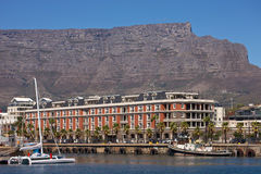 V&A Waterfront and Table Mountain. South Africa, Cape Town, V&A Waterfront and Table Mountain Stock Photo