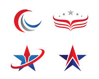 V Wing Logo Template Foto de archivo libre de regalías