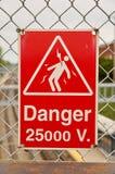 V-Zeichen der Hochspannung 25000 Stockfotografie