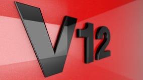 V12 znak Zdjęcia Royalty Free