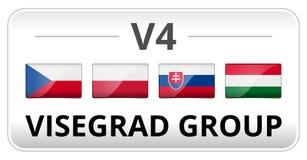 Free V4 Visegrad Group Country Flag Stock Images - 41969124