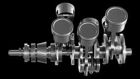 Free V6 Engine Strokes Main Shaft Stock Image - 139285391