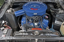 V8 engine compartment of a 1967 car Royalty Free Stock Photography
