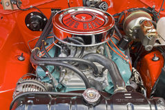 V8 engine compartment Stock Image