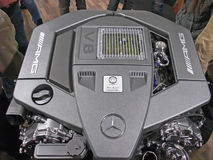 V8 engine from Mercedes AMG Stock Image