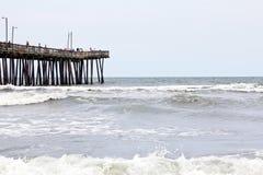 VA海滩码头 免版税图库摄影