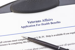 对好处的VA申请 免版税库存图片
