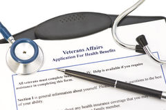 VA Application For Benefits Royalty Free Stock Photo