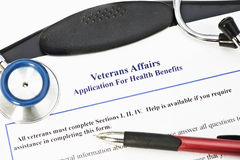VA Application For Benefits stock photos