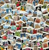 Va Asia - fondo con las fotos del recorrido de Asia Fotografía de archivo