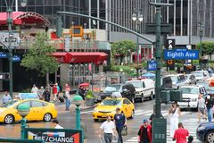 8va avenida de Nueva York Fotografía de archivo