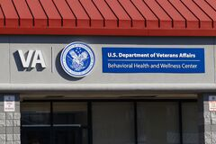 Free VA Behavioral Health And Wellness Center. The U.S. Department Of Veterans Affairs Provides Healthcare Services To Military Veteran Stock Images - 173592624