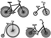Va in bicicletta le illustrazioni di vettore del â Fotografia Stock
