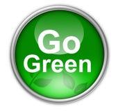 Va el botón verde Foto de archivo libre de regalías