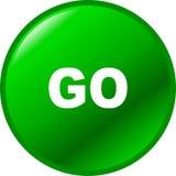 Va el botón verde del vector Fotografía de archivo