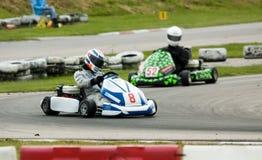 Va el competir con del kart Imagen de archivo
