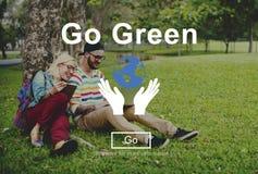 Va el concepto ambiental de la ecología verde de la protección Imagen de archivo