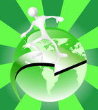 Va el concepto verde Stock de ilustración