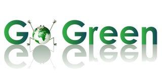 Va el concepto verde. ilustración del vector