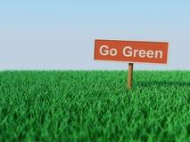 Va el concepto verde Imagen de archivo libre de regalías