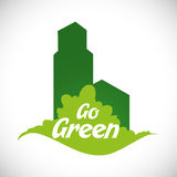 Va el diseño verde Foto de archivo libre de regalías