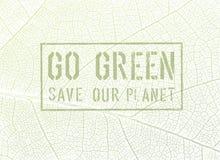 Va el diseño verde del cartel del concepto Fotos de archivo
