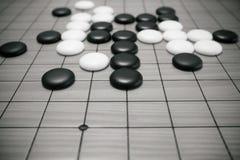 Va el juego o el juego de mesa del chino de Weiqi fotografía de archivo libre de regalías