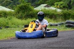 Va el piloto del kart Foto de archivo libre de regalías