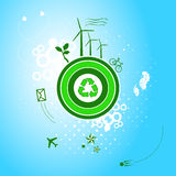 Va el planeta verde Imagen de archivo libre de regalías