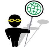 Va el protector de travesía global stock de ilustración