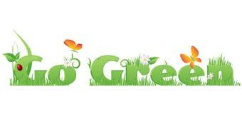 Va el tex verde Foto de archivo libre de regalías