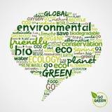 Va el verde. Eco redacta la nube en burbuja social de los media Imagenes de archivo