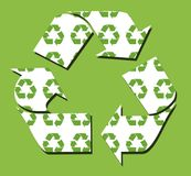 Va el verde recicla el fondo Imágenes de archivo libres de regalías