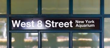 8va estación de metro del oeste de la calle - Brooklyn, NY Imágenes de archivo libres de regalías