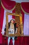 8va figura de cera de rey Henry en señora Tussauds Wax Museum Londres Imágenes de archivo libres de regalías