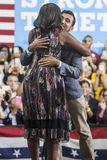 VA: First Lady Michelle Obama for Hillary Clinton in Fairfax royalty free stock photography