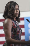 VA: First Lady Michelle Obama for Hillary Clinton in Fairfax stock photo