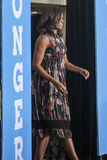 VA: First Lady Michelle Obama for Hillary Clinton in Fairfax stock images