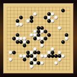 Va il bordo cinese di Gobang Gomoku del gioco Fotografia Stock